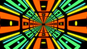 Abstract colorful endless corridor of identical elements Stock Photos