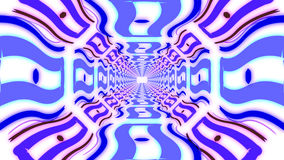 Abstract colorful endless corridor of identical elements Royalty Free Stock Photos