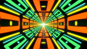Abstract colorful endless corridor of identical elements Stock Image