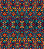 Abstract colorful ethnic tribal pattern. Abstract festive colorful grunge ethnic tribal pattern Royalty Free Stock Photos