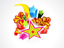 Abstract colorful explode star background Stock Photo