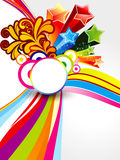 Abstract colorful explode wave background Royalty Free Stock Images