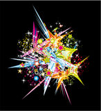 Abstract Colorful Explosion Royalty Free Stock Photography