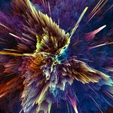 Abstract colorful explosion background. Closeup, hi-res illustration for your brochure, flyer, banner designs and other projects. Explosion lighting effect. 3D Stock Photography