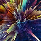 Abstract colorful explosion background. Closeup, hi-res illustration for your brochure, flyer, banner designs and other projects. Explosion lighting effect. 3D Stock Photos
