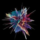 Abstract colorful explosion isolated on black. Abstract colorful explosion isolated on black background. Hi-res illustration for your brochure, flyer, banner Royalty Free Stock Images
