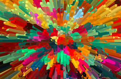 Abstract colorful extruded background. Royalty Free Stock Photos