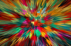 Abstract colorful extruded background. Royalty Free Stock Photo
