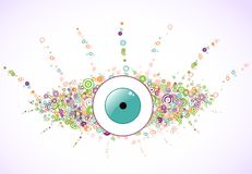 Abstract colorful eye of the circles. Vector Stock Images