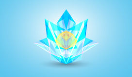 Abstract colorful facet, vector. 3D vector illustration