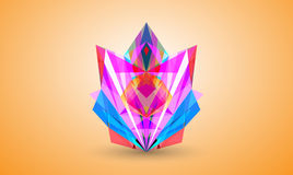 Abstract colorful facet, vector. 3D stock illustration