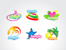 Abstract colorful fake logo icon Royalty Free Stock Photography