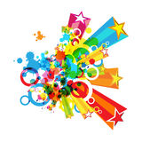Abstract colorful festival Royalty Free Stock Images