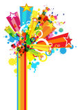 Abstract colorful festival decoration. Background Royalty Free Stock Image