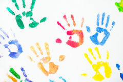 Abstract colorful fingers prints Stock Image