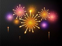 Abstract colorful fireworks background. Abstract colorful shiny fireworks background Stock Photo