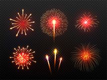 Abstract colorful fireworks background. Abstract colorful shiny fireworks background Stock Image