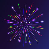 Abstract colorful fireworks background. Christmas lights. Vector illustration Stock Photo