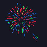 Abstract Colorful fireworks explosion. On dark background. vector illustration Royalty Free Stock Photo