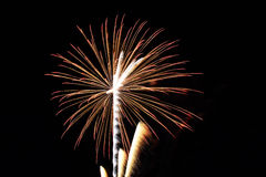Abstract Colorful fireworks with various colors on dark night backgrounds Royalty Free Stock Photos
