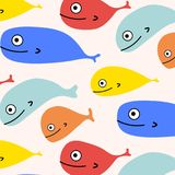 Abstract Colorful Fish Pattern Background. Vector Illustration stock illustration