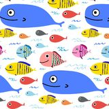 Abstract Colorful Fish Pattern Background. Vector Illustration royalty free illustration