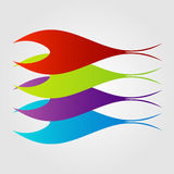 Abstract colorful fishes Royalty Free Stock Photo