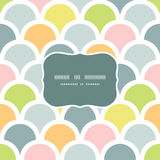 Abstract colorful fishscale frame seamless pattern Royalty Free Stock Photography