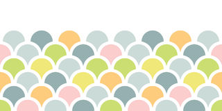 Abstract colorful fishscale horizontal seamless pattern background