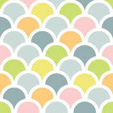Abstract colorful fishscale seamless pattern background Stock Photography