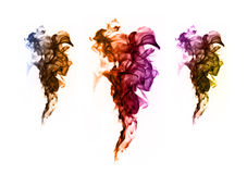 Abstract colorful flame patterns on white background Stock Image