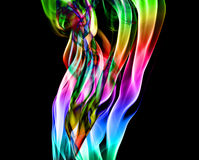 Abstract colorful flames Royalty Free Stock Photo