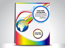 Abstract colorful flayer Royalty Free Stock Photo