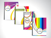 Abstract colorful flayer set Royalty Free Stock Images