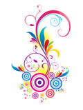 Abstract colorful floral background Stock Photo