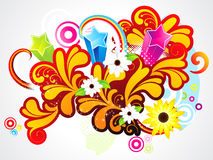 Abstract colorful floral background Royalty Free Stock Photography