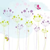 Abstract Colorful Floral Butterfly Background Stock Photos