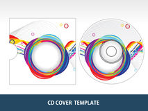 Abstract colorful floral cd cover Royalty Free Stock Images