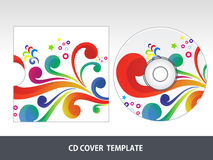 Abstract colorful floral cd cover Stock Photo