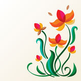 Abstract colorful floral element background with place for text. Royalty Free Stock Photos