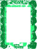 Abstract colorful Floral frame in green  Royalty Free Stock Photos