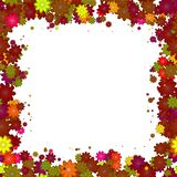 Abstract colorful floral frame. Stock Image