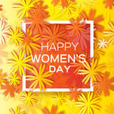 Abstract Colorful Floral Greeting card - International Happy Women's Day - 8 March holiday background Stock Photo