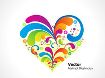 Abstract colorful floral heart Royalty Free Stock Photo