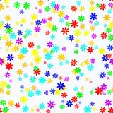 Abstract colorful floral pattern on light background. Vector seamless illustration. Stock Photo