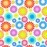 Abstract colorful floral seamless pattern. Royalty Free Stock Images