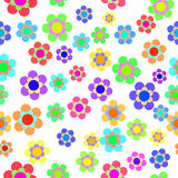 Abstract Colorful Floral Seamless Pattern. Vector Stock Images