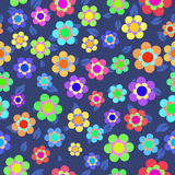 Abstract Colorful Floral Seamless Pattern. Vector Royalty Free Stock Images