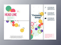 Abstract colorful floral shape pattern brochure design template Stock Photos