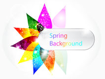 Abstract colorful floral spring background vector illustration